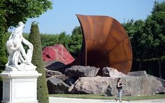 'Dirty Corner', by British Anish Kapoor, is displayed in the gardens of the Chateau de Versailles