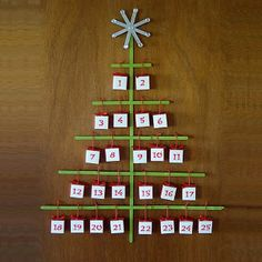 Popsicle Stick Advent Calendar