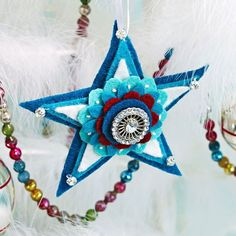These easy-to-make star ornaments are sure to light the way to a joyful holiday. Use them as embellishments on your Christmas gifts or for added sparkle on your tree.