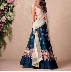 Navy and pink #lehenga for a desi #wedding #indianfashion