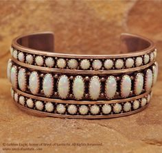 Cultured Opal & Sterling Silver Cuff Bracelet