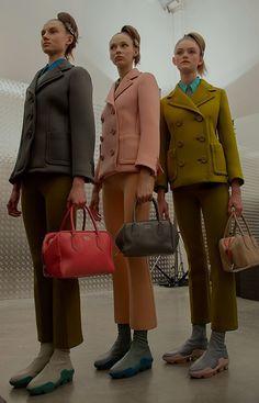 Soft suiting at Prada AW15 MFW. See more here: http://www.dazeddigital.com/fashion/article/23792/1/prada-aw15-livestream