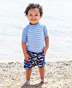 67cc0a93434c1 Sharky Swim Trunks - RuggedButts.com Your little guy will love the colorful  shark print