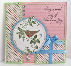 Sunny Summer Crafts: Christmas Card Club #13: Pastels with a Circle