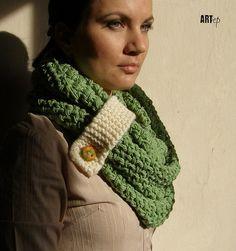 Star stitch scarf w/bow instead