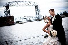 Duluth, MN Wedding Photographer- Canal Park, Arial Lift Bridge.  Reception was at Harbor Side Ballroom at DECC (www.decc.org) Brovado Weddings.
