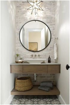The bathroom will be your favorite room in your house when you see these bathroom ideas! Take a look at the board and let you inspiring! See more clicking on the image. Roomspiration, Half Baths, Powder Room, Home Renovation, Backsplash, Bathroom Ideas, Bathrooms, Toilets, Trough Sink