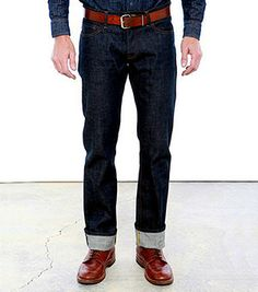 Tellason Slim Straight (12.5 oz) Self Edge jeans.. if you haven't lived in a pair of self edge jeans and experienced the result of doing so it is a must for any man. stop buying those prefaded-treated-in-some-factory-with-dremmels-and-rocks cookie cutter jeans and where these for a year, see the whiskering, fading and spidering from your own wear.