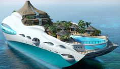Tropical Island Yacht from Cruise Ship | See More Pictures | #SeeMorePictures