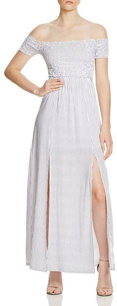 MINKPINK Striped Off The Shoulder Dress - Bloomingdale's Exclusive