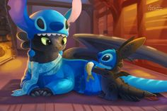 Toothless & Stitch
