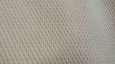 MATELASSE SOFT COTTON cream ivory woven upholstery by fabriczoo4U
