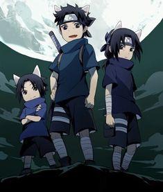 Uchiha Sasuke, Uchiha Shisui and Uchiha Itachi