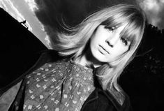 Marianne Faithfull photographed by David Bailey on Primrose Hill in London, 1964