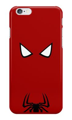 """Spiderman Minimalist Art"" iPhone Cases & Skins by adesigngeek 