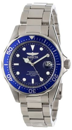 Invicta Men's 9204 Pro Diver Collection Silver-Tone Watch Quality Japanese-Quartz movement. Mineral crystal. Case diameter: 40 mm. Stainless-steel case