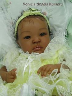 ethnic reborn baby Mishael Jade: This is the Shyann sculpt. Shyann was sculpted by Aleina Peterson and is sold by Bountiful Babies. As soon as I saw this reborn doll sculpt, I knew I