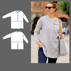 Skjortebluse str. 36 - Stoff & Stil
