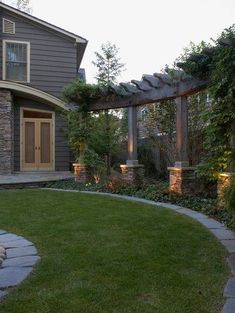 Privacy for the backyard. Add a pergola along the back fence. Love this look! by ollie