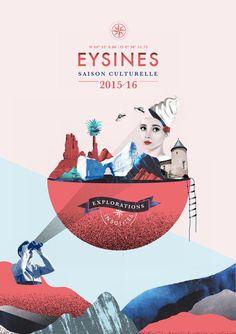 Eysines saison culturelle 2015 2016 - Ducati Motor Holding S. Poster Design, Graphic Design Posters, Graphic Design Typography, Graphic Design Inspiration, Graph Design, Web Design, Layout Design, Design Art, Collage Design