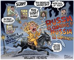 "254 Likes, 4 Comments - Ann Kennedy (@american_exceptionalism) on Instagram: ""New #BenGarrison #cartoon #HillaryRevere The #Russians are Coming! #HillaryClinton #Hillary @DNC…"""