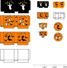 dollhouse scale printable halloween trick or treat and treat bags