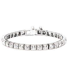 Cartier Art Deco Diamond Tennis Bracelet