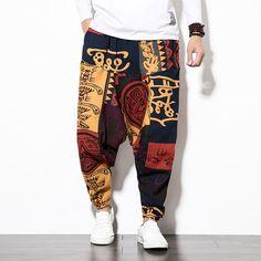 Where to buy mens hip hop harem pants? NewChic offer quality mens hip hop harem pants at wholesale prices. Shop cool personalized mens hip hop harem pants with unbelievable discounts. Tribal Shirt, Coton Vintage, Vintage Men, Vintage Cotton, Vintage Sewing, Diy Moda, Cotton Harem Pants, Baggy, Chelsea Fc