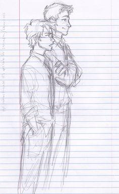 Harry & Ron Drawn by burdge