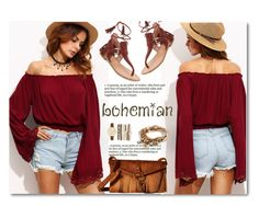 """""""bohemian ❤"""" by aa-fashion-girls ❤ liked on Polyvore featuring Sigerson Morrison, Steve Madden, Lizzy James and Jessica Carlyle"""