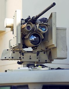 CROWS (Common Remotely Operated Weapon Station) with a .50 cal M2 Browning.  via sid766: