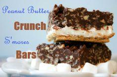 Bakergirl: Peanut Butter Crunch S'mores Bars.