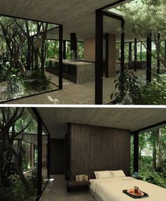 Prt two of modern tree house getaway - Popular Dream Home Design, My Dream Home, Home Interior Design, Interior And Exterior, Interior Designing, Modern Tree House, Modern House Design, Forest House, House Rooms