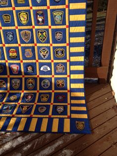 Police Patch quilt by Wendysquilting.