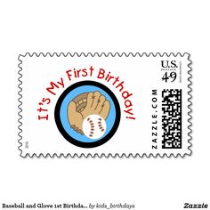 Baseball and Glove 1st Birthday Tshirts and Gifts Postage