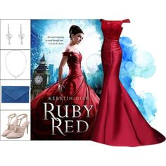Book Look: Ruby Red By Kerstin Gier by xmikky on Polyvore featuring EAST, MaBelle and Stephen Webster