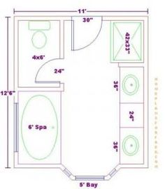 Trendy Bathroom Closet Combo Layout Washer And Dryer Ideas Master Bathroom Plans, Small Bathroom Floor Plans, Bathroom Layout Plans, Master Bathroom Layout, Bathroom Design Layout, Bathroom Ideas, Bathroom Remodeling, Bath Ideas, Bathroom Designs