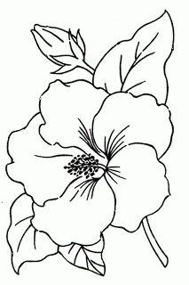 Royce's Hub: Free Embroidery Pattern : Hibiscus Flower
