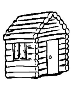 Log Cabins Coloring Pages