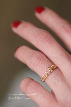 Crown Tiara Ring Gold from kellinsilver.com