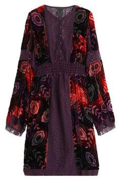 Velvet Dress with Lace Trims | Anna Sui