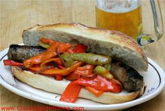Sausage and Peppers Hero... the classic Italian sandwich -