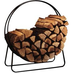 Stack your firewood in style with the Panacea Log Loop. This log hoop will store your firewood 3-inches off the ground to prevent it from sitting on a wet, muddy, or uneven surface. Quickly assemble t