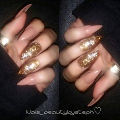 Love these Gold nails