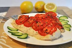 Baked Cod with Tomato and Basil