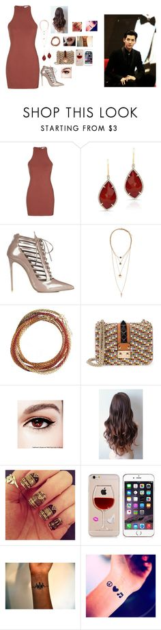 """""""Meeting Kris Wu's Parents"""" by kpopisbae4life ❤ liked on Polyvore featuring Topshop, Anne Sisteron, H&M, YooLa, Valentino, Maybelline and KRISVANASSCHE"""