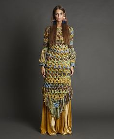 Made in Spain Crochet Bodycon Dresses, Crochet Skirts, Crochet Clothes, Diy Clothes, Knit Crochet, Bohemian Mode, Bohemian Style, Boho Chic, Macrame Dress