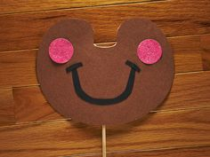 Gingerbread Photo Booth Prop  Glitter Photo Prop  by LoveMischka