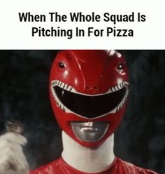 New party member! Tags: pizza power rangers teamwork pitching in