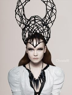 Sculptural Headpiece - dark fashion; couture millinery; wearable art // Kate Cusack